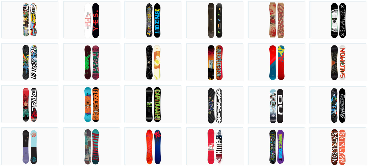 Get the top snowboards of 2017